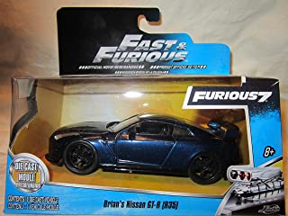 NEW - JADA 1:32 Scale FAST AND FURIOUS 7 BRIAN`S Blue 2009 NISSAN GT-R R35