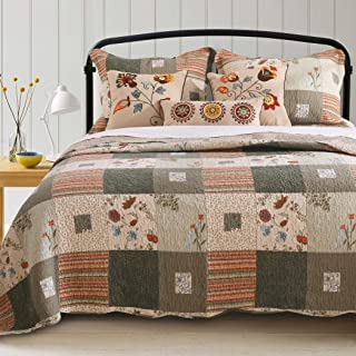 Greenland Home Fashions Sedona Cotton 5-Piece Quilt Set 5 Piece King