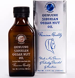 PREMIUM Siberian Pine Nut Oil Enriched with Pine Resin 20%-3,5oz/100ml. Wild Harvested, Extra Virgin, Cold Press by Wooden Press. Ringing Cedars of Russia. Produced in Kin's Eco Settlement, Russia.