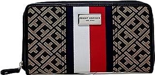 New Tommy Hilfiger Women/'s Double Zip Around Wallet Clutch Bag W86939537
