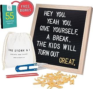 Black Felt Letter Board for Mothers with Oak Frame 10