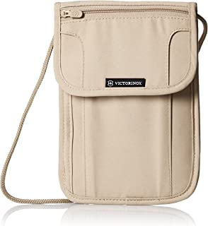 Victorinox Deluxe Concealed Security Pouch with RFID Protection, Nude/Black Logo (Off-White) - 311719