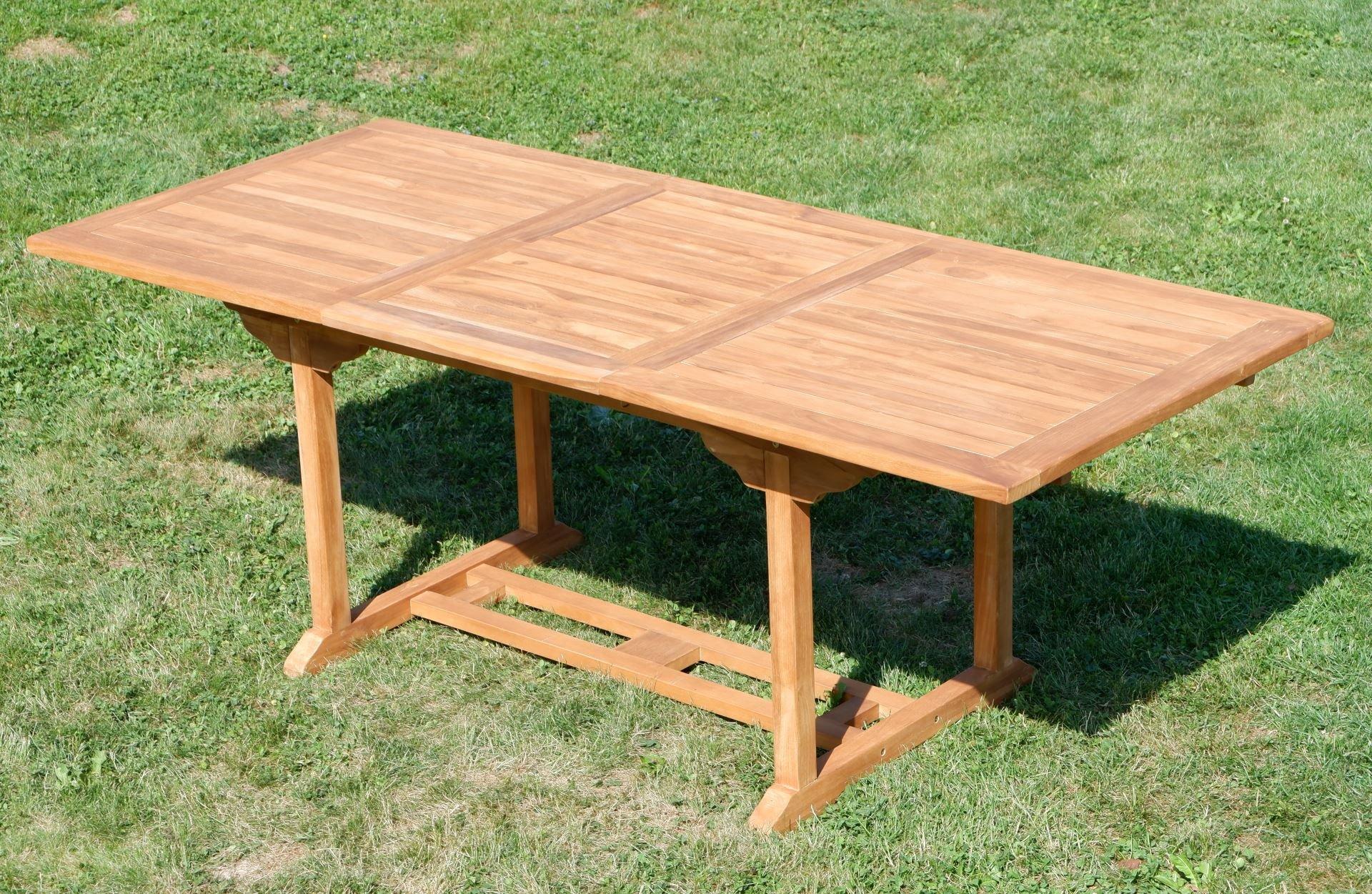ASS teca mesa extensible XXL, 150/210 x 90 cm Mesa de madera mesa ...
