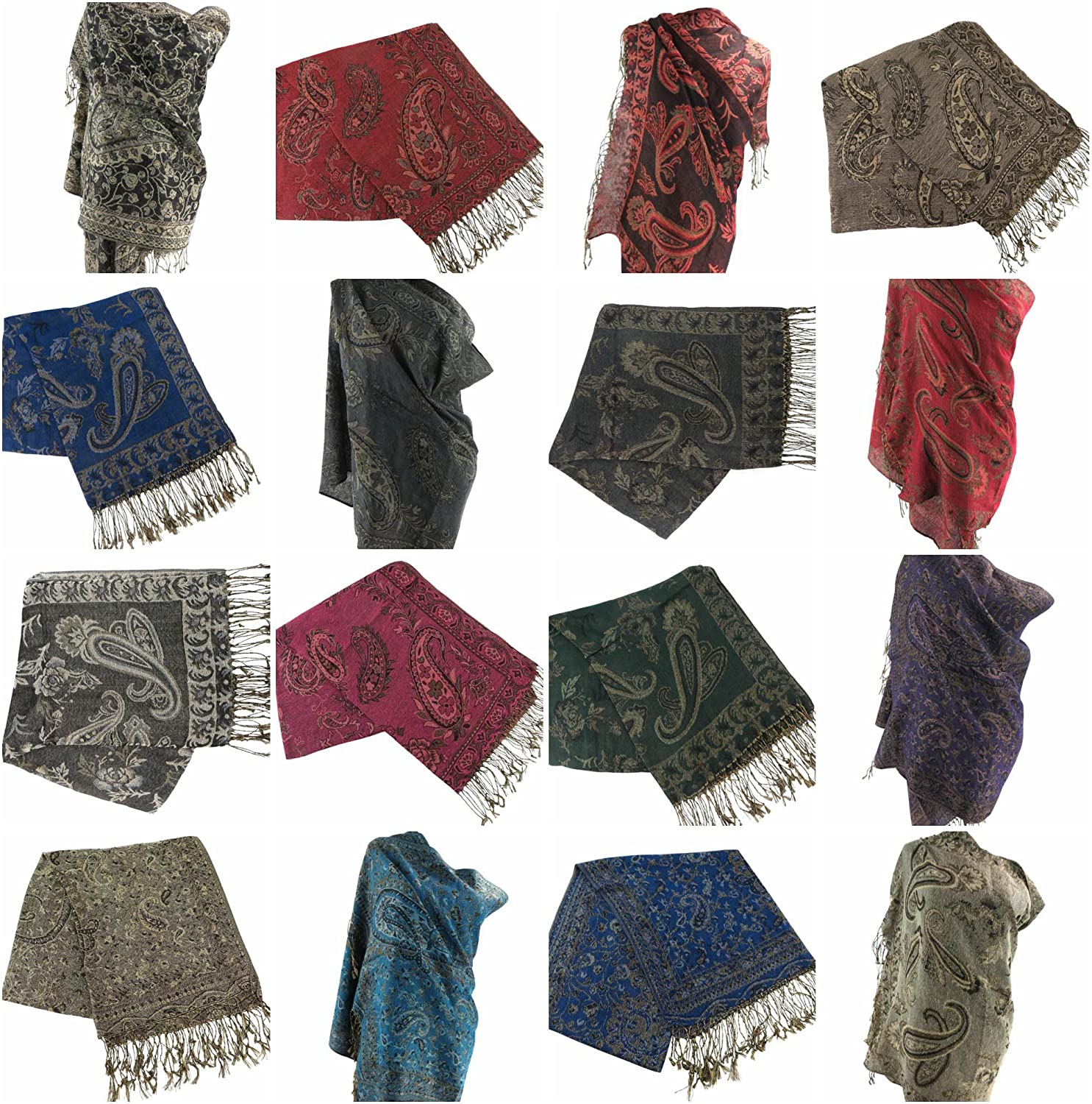 12 scarves floral paisley pashmina shawl wrap stole Scarf for Sale Evening shawl