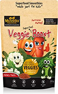 Mavella Veggie Boost Powder for Kids - Contains 8 Vegetables, 5 Superfoods, Organic Pea & Brown Rice Protein - Savoury Tas...