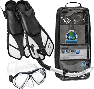 Head Italian Collection Sailor Splash Quest Superior Mask Fin Snorkel Set with Travel Friendly Snorkeling Gear Bag