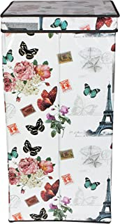 Branco Foldable Laundry Basket Bag Butterfly (with Steel Handle) - 71 X 35 X 2 cms,