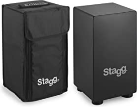 Stagg CAJ-40S Children's Small Cajon with Bag - Black, CAJ-40S BK