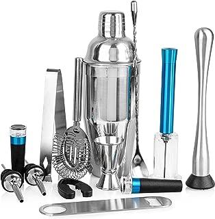 Cubba 13-Piece Barware Set w/Air Pump Wine Opener, Vacuum Wine Stopper, Bartender Kit, Bar Set, Bar Accessories, Bar tools, Home Bar Tools Set, Bar Set Cocktail Shaker Set, Barware set, Barware gifts