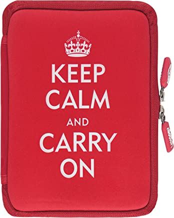 NeoSkin Kindle Zip Sleeve, Keep Calm and Carry On (Fits Kindle and Kindle Paperwhite, Neoprene Kindle Cover, Kindle Case)