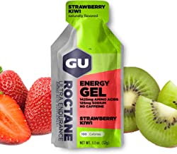 GU Energy Roctane Ultra Endurance Energy Gel, Strawberry Kiwi, 24-Count