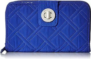 Vera Bradley womens Rfid Turnlock Wallet, Microfiber