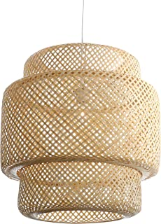 Lussiol 250601 - Lámpara de techo, bambú, 60 W, natural, grande