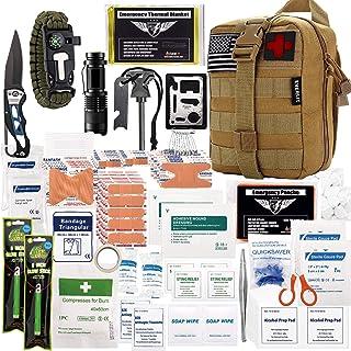 EVERLIT 250 قطعه Survival Kit First Aid Survival IFAK Molle System سازگار با جعبه دنده در فضای باز در فضای بسته تروما کیسه برای کمپینگ قایق شکار پیاده روی در خانه زلزله اتومبیل و ماجراهای