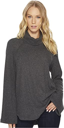 Michael Stars - Madison Brushed Long Sleeve Turtleneck Raglan Top