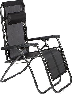 Trademark Innovations Infinity Zero Gravity Patio Lounge Chair (Black)