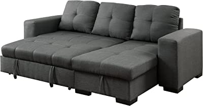 Amazon.com: Sunpan Modern 102149 5West Sofa Chaises Grey ...