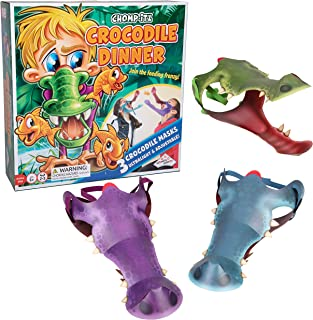 Chomp-Itz Crocodile Challenge Game - Pick up Challenge for Kids with Included 3 Masks - Ages 5 and Up - 2 to 3 Players
