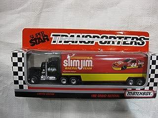 #44 Slim Jim NASCAR Chevrolet Racing Team Matchbox Limited Edition Superstar Transporters / Team Haulers -- Peterbuilt / Kenworth Style CY 104