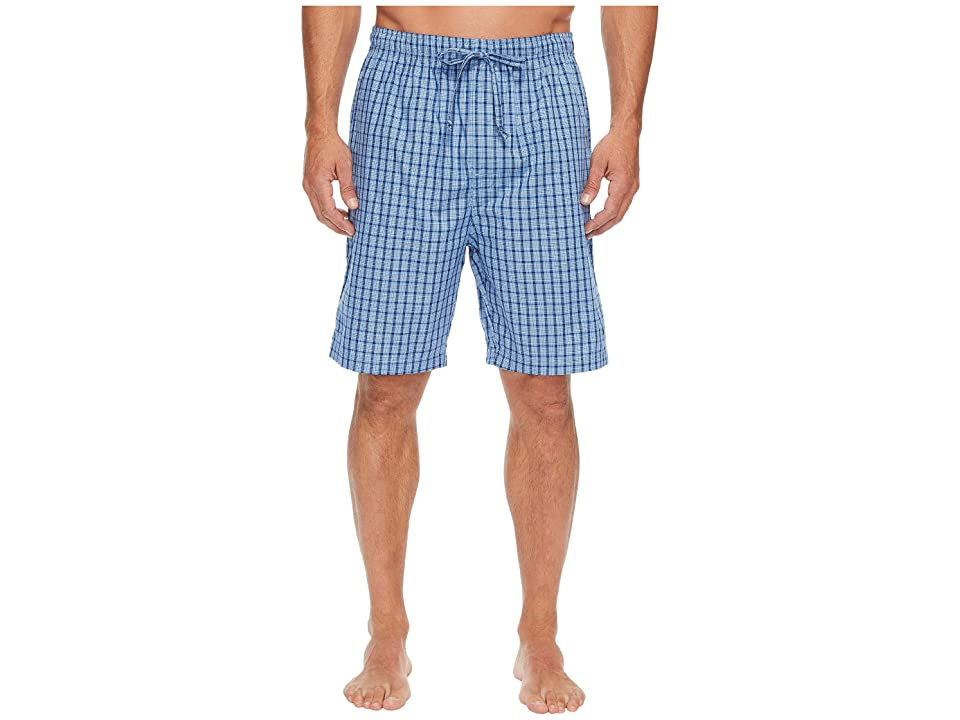 Nautica Plaid Sleep Shorts (Light French Blue) Men