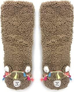 Women's Super Soft Pet Llama Sherpa Slippers One Size