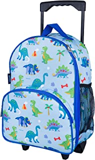 Wildkin Kids Rolling Luggage for Boys and Girls, Bag is Carry-On Size and Perfect for School or Overnight Travel, Patterns Coordinate with Our Nap Mats and Duffel Bags