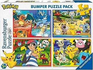 Ravensburger - Puzzle 4 x 100 pièces Bumper Pack, Pokémon (6929)