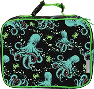 """Insulated Durable Lunch Box Sleeve - Reusable Lunch Bag - Securely Cover Your Bento Box, Works with Bentology Bento Box, Bentgo, Kinsho, Yumbox (8""""x10""""x3"""") - Octopus"""