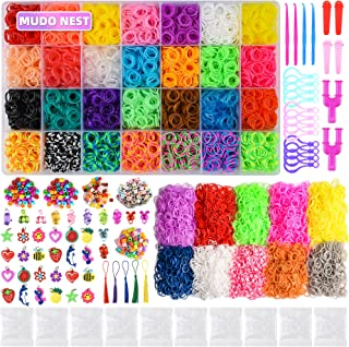 20000+ Loom Bands Kit: 19,000 DIY Rubber Bands Kits 38 Unique Colors, 500 Clips, 40 Charms,Loom Bracelet Making Kits for K...