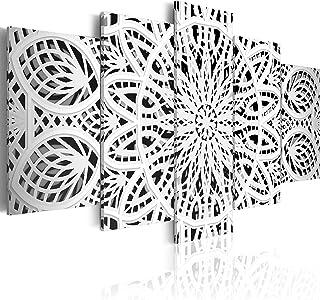 murando - Cuadro 200x100 cm - Mandala Impresión de 5 Piezas