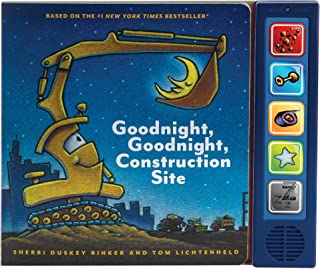 Goodnight Goodnight Construction Site Sound Book: (Construction Books for Kids, Books with Sound for Toddlers, Children's Truck Books, Read Aloud Books)