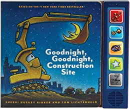 Goodnight Goodnight Construction Site Sound Book: (Construction Books for Kids, Books with Sound for Toddlers, Children's ...