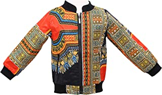 Unisex Kids African Jackets Toddler Kids Long Sleeve Autumn Dashiki African Windproof Coat Warm Outwear Jacket