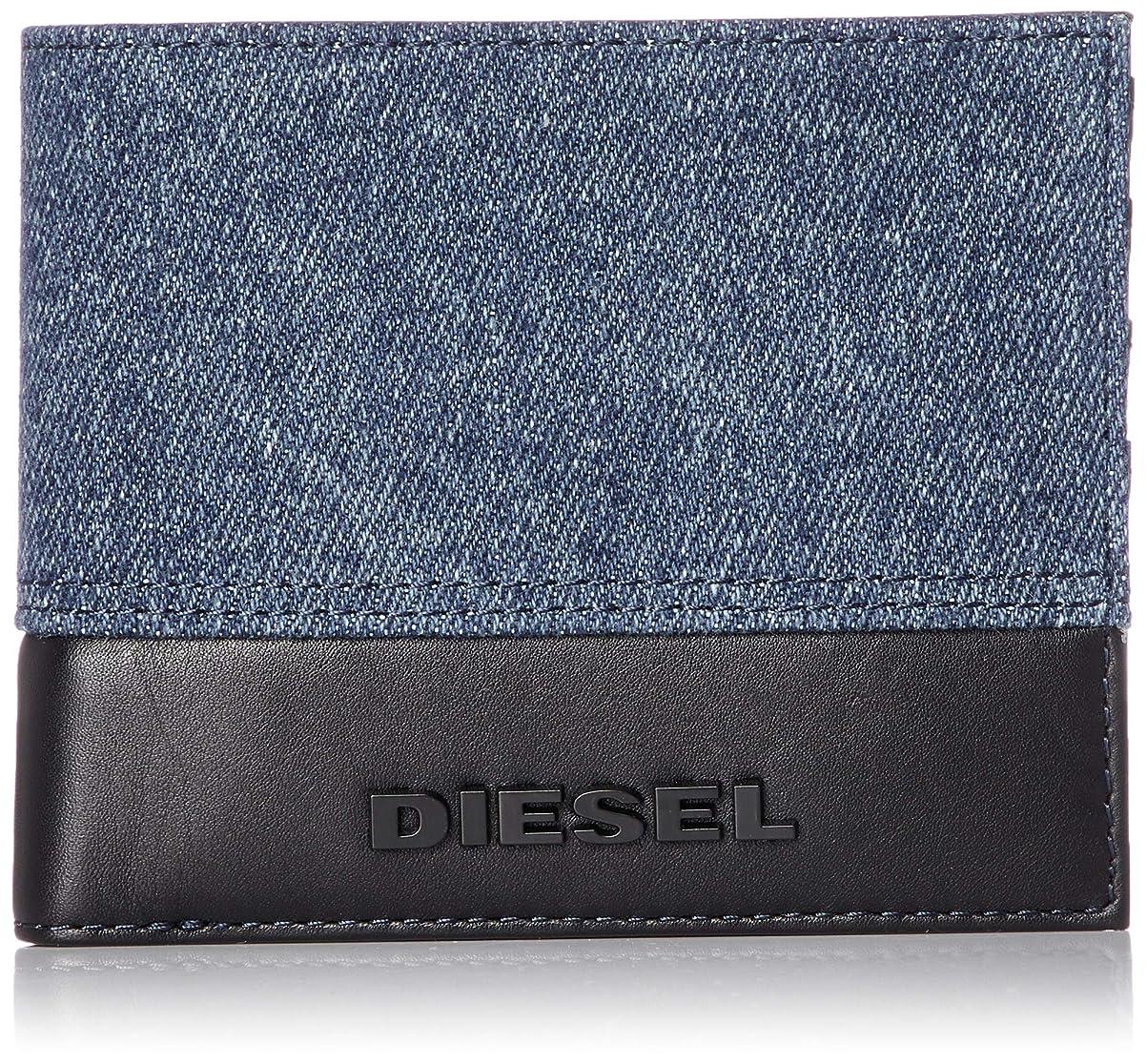 笑助手小学生(ディーゼル) DIESEL メンズ 異素材ミックス 二つ折り財布 X06321P2553