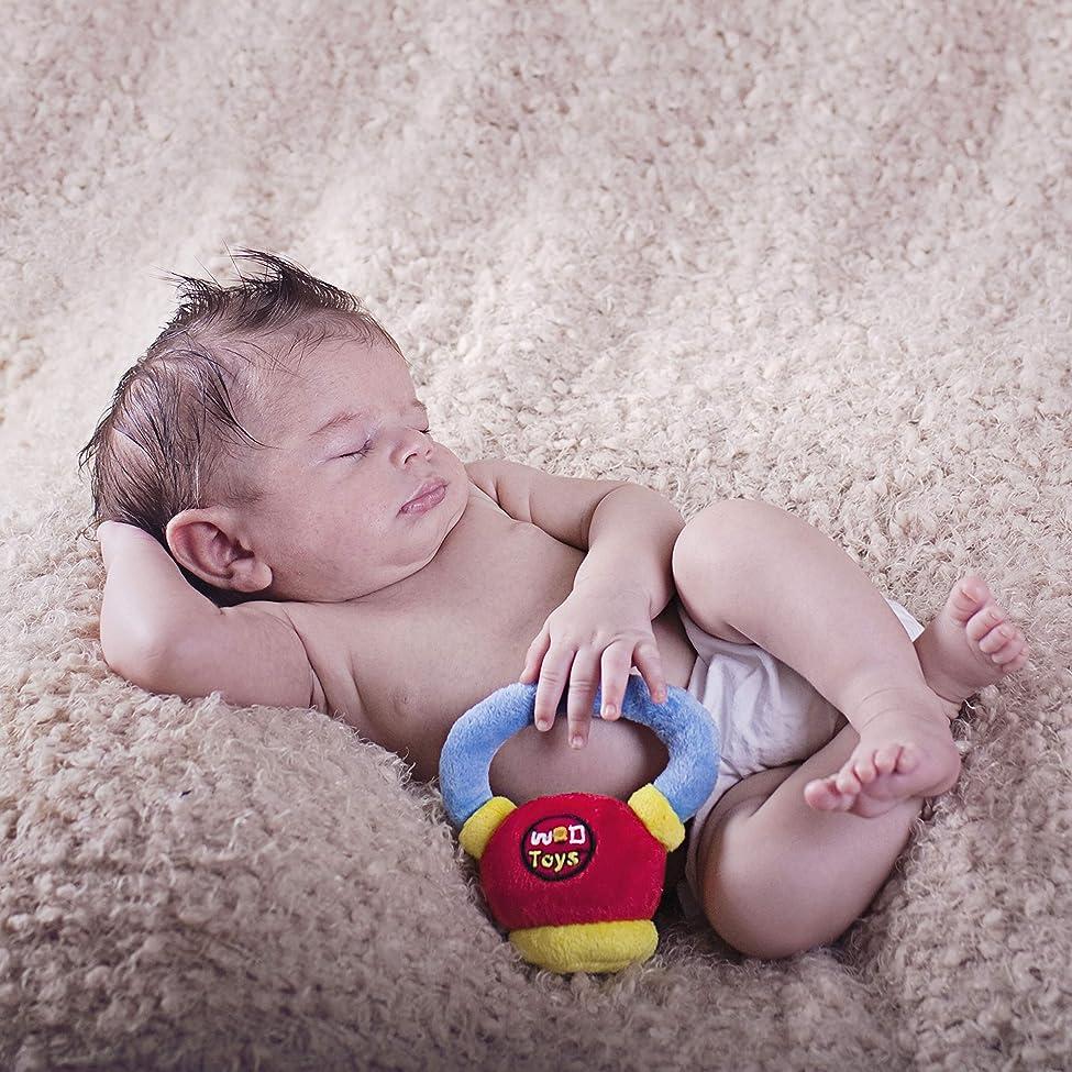 懺悔終わったラフWOD Toys ベビー ケトルベル プラッシュケトル ラトル付き 安全 耐久性 フィットネス おもちゃ 新生児 乳児 乳児 乳児用