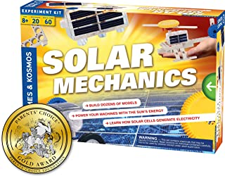 Thames & Kosmos Solar Mechanics   Science Experiment Kit   Build 20 Models Powered by The Sun   Ages 8-12+   60 Page Full Color Stem Manual   Parents' Choice Gold Award Winner