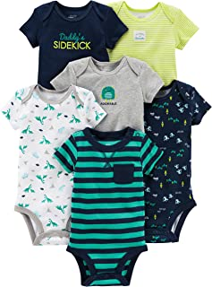 Simple Joys by Carter's Baby Boys' 6-Pack Short-Sleeve Bodysuit