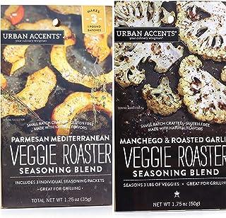 Urban Accents Veggie Roasters - 2 Flavors - Parmesan Mediterranean Veggie Roaster AND Manchego & Roasted Garlic Veggie Roa...