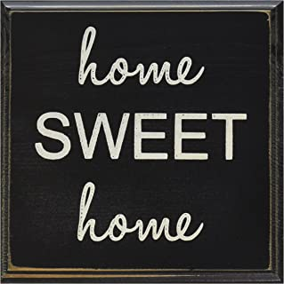 Home Sweet Home Wood Sign Black