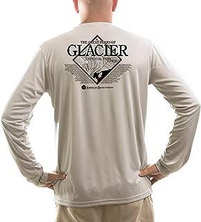 American Backcountry Men's Glacier National Park UPF 50+ Long Sleeve T-Shirt