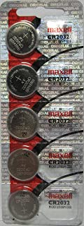 Maxell CR2032 5-Pack 3V Lithium Coin Cell Batteries by Maxell