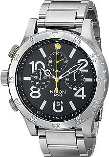 NIXON - Reloj cronógrafo para hombre 48-20 Geo Volt de acero inoxidable