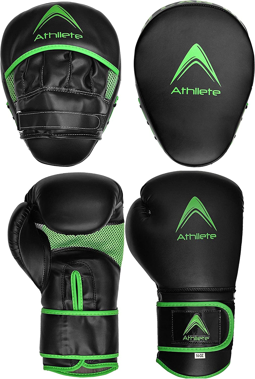 Overseas parallel import regular item Athllete Boxing Training Set Gloves Green oz 12 and Pu Regular dealer
