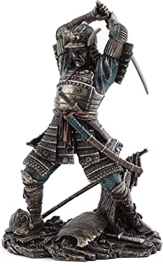 Top Collection Japanese Bushido Samurai Warrior Statue- Historical Sculpture with Martial Arts Sword in Premium Cold Cast Bronze - 9-Inch Collectible Figurine