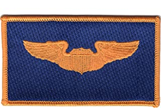 Pilot Wings Air Force Name Patch Blue And Gold