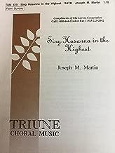 Sing Hosanna in the Highest (Sacred Anthem, SATB)