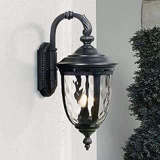 Bellagio Outdoor Wall Light Fixture Textured Black 20 1/2