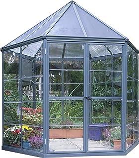 Palram HG6000 Oasis Greenhouse, 7' x 8' x 9', Gray