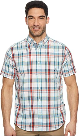 Nautica - Short Sleeve Large Scale Plaid Woven Shirt