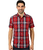 U.S. POLO ASSN. - Slim Fit Short Sleeve Plaid Sport Shirt